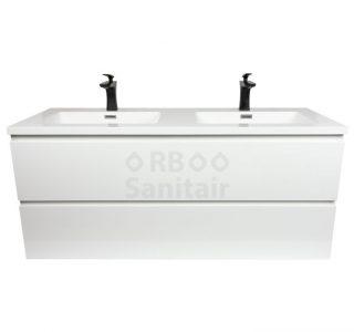 Badkamermeubel Vakna 120 cm Hooglans wit vooraanzicht