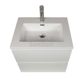 Badkamermeubel Vakna 60 cm Hoogglans wit bovenaanzicht