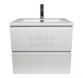 Badkamermeubel Vakna 60 cm Hoogglans wit vooraanzicht