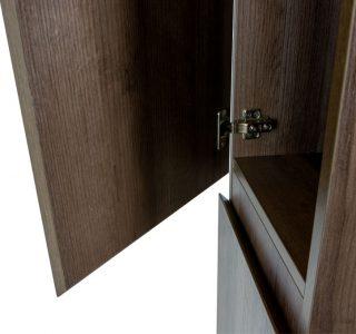 Kolomkast Vakna 160 cm donker eiken deur detail