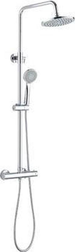 RBS040044 - Opbouw Regendoucheset 20 cm Rond Chroom Thermostatisch